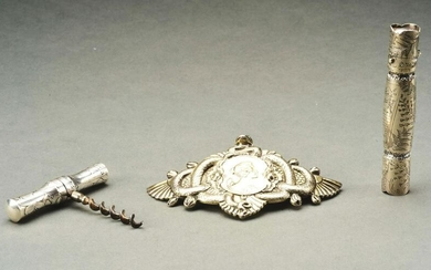 LOT OF 3: STERLING SILVER ITEMS AND ONE 14K AND