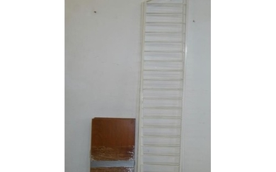 """Ladderax White Painted Unit with 6 shelves approx. 14"""" x 35""""..."""