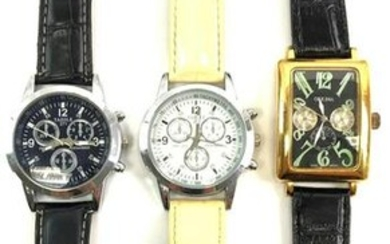 Lot of 3 : Bold Modern Styled Quartz Watches