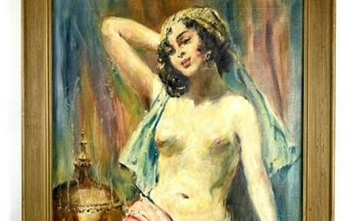 ?MAGNIFICENT FRENCH O/C PAINTING BY Lucienne Leroux
