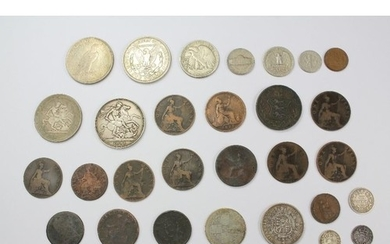 Miscellaneous GB coins, including crowns, sixpence, decimal ...