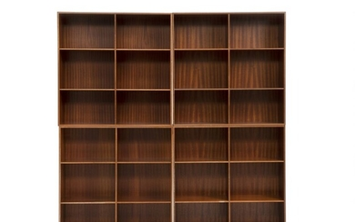 Mogens Koch: Set of four solid mahogany bookcases. Made by Rud. Rasmussen cabinetmakers. (4) –...