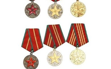 NINE RUSSIAN MEDALS FOR IRREPROACHABLE SERVICE