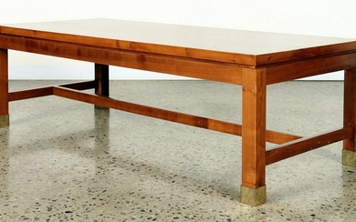 PINE CAMPAIGN STYLE COFFEE TABLE C.1970