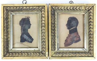 Pair of 1811 Foster of Derby Silhouettes