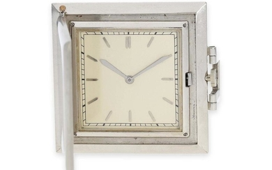 Pocket watch/ dress watch: extremely rare square dress watch from the Art Deco period, Vacheron & Constantin for Van Cleef & Arpels, ca. 1920