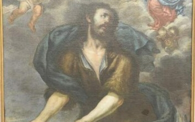 Portrait Painting of St. James, oil on canvas having