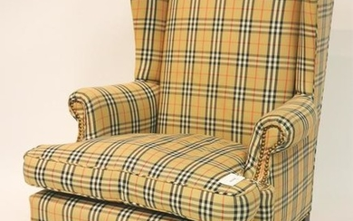 Queen Ann Style Wing Chair, 19th C.