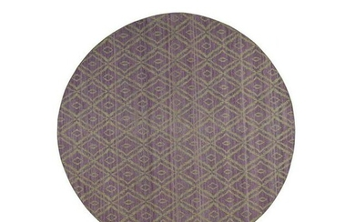 Reversible Round Kilim Flat Weave Hand-Woven Pure Wool