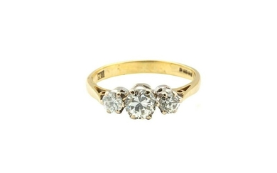 Ring with 3 diamonds, 2nd half of the 20th Century