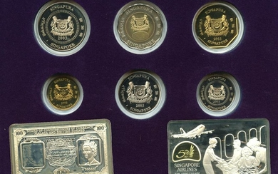 SINGAPORE Silver & Cu-Ni $5 commemorative 2 in 1 Coin