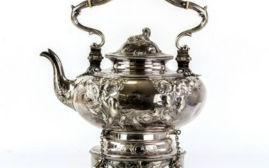 Tiffany & Co C. 1850 Sterling Sliver Kettle, Stand