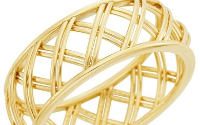 Tiffany & Co., Paloma Picasso Gold 'Villa Paloma Trellis' Bangle Bracelet