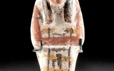 Translated Egyptian Polychrome Ushabti for Wah-Smen