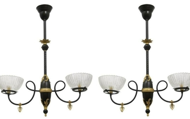 Two Hanging Light Fixtures