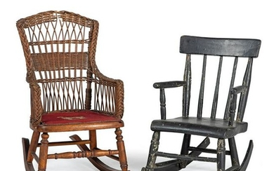 Two Painted Child's Rockers