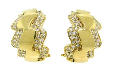 Van Cleef & Arpels Diamond Gold Hoop EARRINGS Vintage
