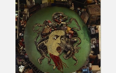 Vik Muniz, Medusa, after Caravaggio (Pictures of Junk)