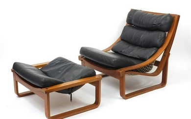 Vintage Tessa T4 lounge chair with foot stool designed