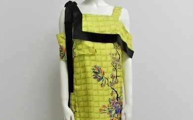 """""""Vionnet"""" Dress in pure yellow silk Size XS-S"""