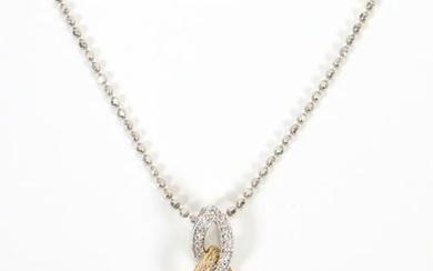 WHITE AND YELLOW GOLD AND DIAMOND ICON NECKLACE