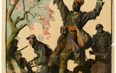 War Poster African Army Colonial Troops Day France