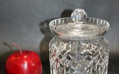 Waterford crystal biscuit jar