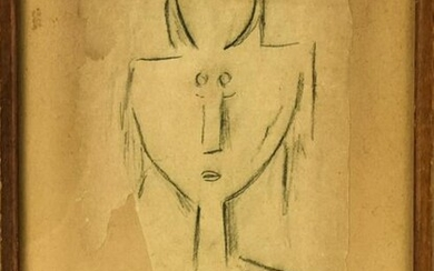 Wilfredo Lam Signed Untitled Pencil Drawing
