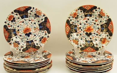 """15 EARLY DERBY 9.75"""" PLATES"""