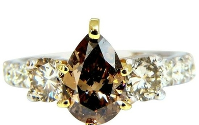 1.50 Carat Natural Fancy Brown and 1.30 Carat Diamonds