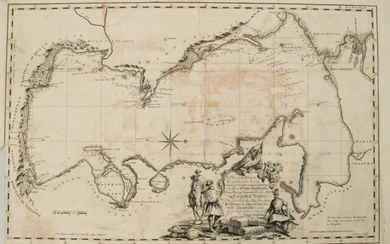 1753 Gibson Map of the Caspian Sea -- A Plain Chart of