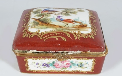 19TH-CENTURY FRENCH ORMOLU AND PORCELAIN CASKET