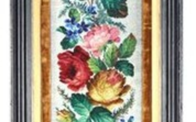19th century bead embroidery flower decoration & nbsp;