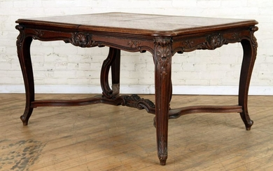 CONTINENTAL OAK DINING TABLE PARQUETRY TOP
