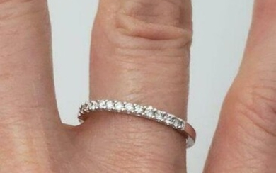 .25ctw DIAMOND BAND in 14K WHITE GOLD 1.7mm