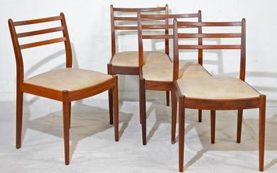 4 Mid Century Modern Ladder Back Chairs by Gplan