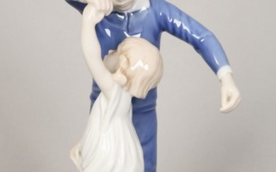 A BING AND GRONDHAL PORCELAIN FIGURE