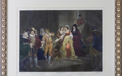 A Collection of Prints, From Pictures Painted for the Purposes of Illustrating the Dramatic Works of Shakespeare, By the Artists of Great-Britain [3 FRAMED ENGRAVINGS]