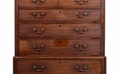 A George III Mahogany Chest on Chest Height 61 x width