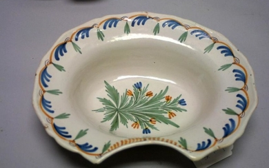 A Good Late 18th Century French Faience Barbers Bowl