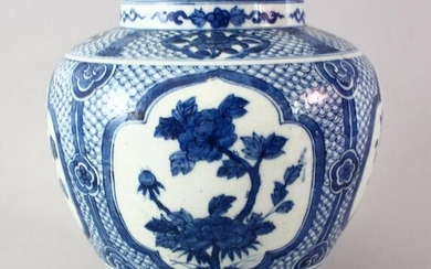 A LATE 19TH CENTURY CHINESE BLUE & WHITE PORCELAIN JAR