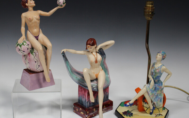 A Peggy Davies limited edition figure Isadora, modelled by Andy Moss, No. 16 of 500, height 27cm, bo