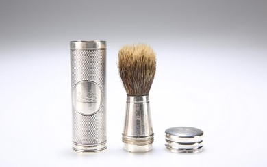 A VICTORIAN SILVER SHAVING BRUSH, by William Thomas