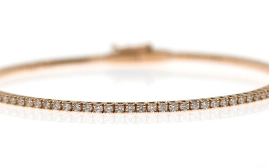 NOT SOLD. A diamond bracelet set with numerous brilliant-cut diamonds weighing a total of app....