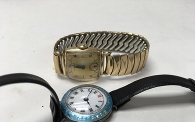 A gents Hamilton wrist watch and a ladies Guilloche enamel o...