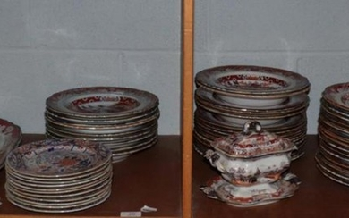 A large quantity of Masons Ironstone dinner wares including dinner...