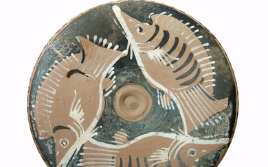 A wonderful Apulian red-figure fish plate