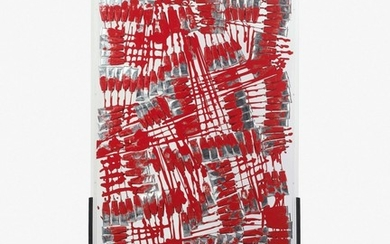 ARMAN (1928 - 2005) PURTISTIC MONOCHROME ROUGE - 1989
