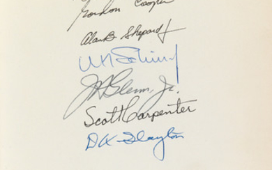 (ASTRONAUTS PROJECT MERCURY.) We Seven. Signed by all 7 authors