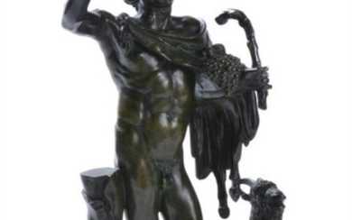 An Italian patinated bronze of the Bacchic Faun or 'Faun in Rosso Antico', after the Antique, probably Rome, first half 19th century